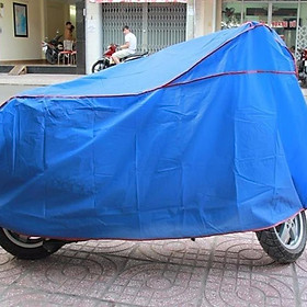 Bạt phủ xe máy loại dày che nắng mưa bụi bẩn - xanh dương