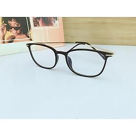 Gọng kính nhựa đen cao cấp,kiểu dáng đơn giản, hiện đại ,mắt chống ánh sáng xanh Tr30016