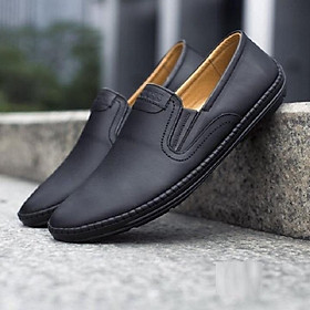 Giày lười  giày mọi nam da thật hàng việt nam cao cấp GN52