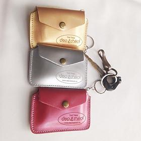 Combo 3 ví móc khóa đựng thẻ ATM, Tiền Mặt Thời Trang Màu ngẫu nhiên