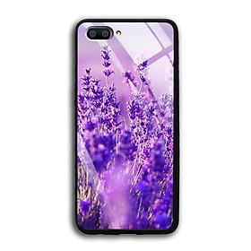 Ốp Lưng Kính Cường Lực Realme C1 - 03040 7783 LAVENDER03 - in hình hoa Lavender (hoa Oải Hương) - Hàng Chính Hãng