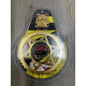 Bộ nhông sên đĩa vàng dành cho xe Exciter 150.