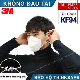 Khẩu trang phòng dịch 3M 9013 kháng khuẩn và chống bụi mịn đạt chuẩn KF94 tương đương với khẩu trang N95, chuyên dùng cho chống lây nhiễm, thiết kế không đau tai