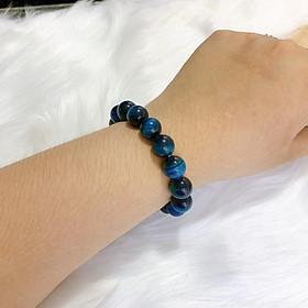 Vòng tay Phong Thủy đá Mắt Hổ màu Xanh Lam Cao Cấp – Biểu tượng mang đến sự May Mắn, Thịnh Vượng, Tiền Tài và Hạnh Phúc cho Gia Chủ