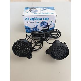 Bộ 2 đèn led hắt bể cá 7 mầu - đèn led hòn non bộ