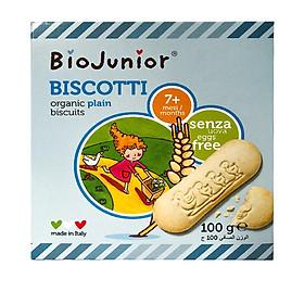 Bánh ăn dặm hữu cơ cho bé 7 tháng vị truyền thống Bio Junior 100gr - Organic plain biscuits 7 months