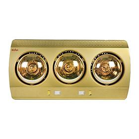 Đèn sưởi nhà tắm 3 bóng Kohn KN03G 825W (Vàng) - Hàng Nhập Khẩu