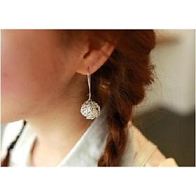 bông tai xi bạch kim Hàn Quốc thời trang