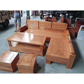 Sofa Góc Nhỏ Gỗ Sồi Mặt Liền màu đinh hương GNL-02