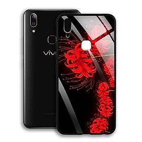 Ốp Lưng Kính Cường Lực cho điện thoại Vivo V9 / Y85 - 03032 7885 HOABINGAN15 - Hoa Bỉ Ngạn - Hàng Chính Hãng