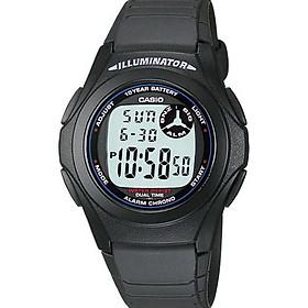 Đồng hồ unisex dây nhựa Casio F-200W-1ADF