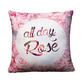 Gối Ôm Vuông All Day Rose GVGI025 (36 x 36 cm)