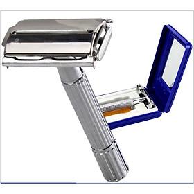 Hộp dao cạo râu hai lưỡi kim loại cổ điển T-CLASSIC
