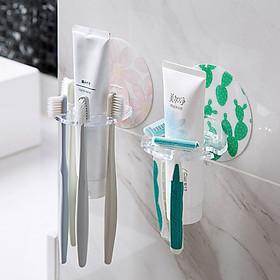 Giá treo bàn chải răng - Giá dán tường để bàn chải đánh răng (GIAO MÀU NGẪU NHIÊN)