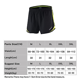 Arsuxeo Men's 2 in 1 Running Shorts Quick Dry Marathon Training Fitness Running Cycling Sports Shorts Trunks-2