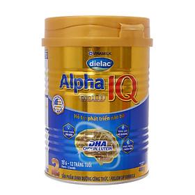 Sữa Bột Vinamilk Dielac Alpha Gold IQ Step 2 Dành Cho Bé Từ 6 -12 Tháng - Hộp 400g