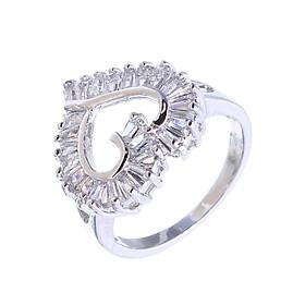 Nhẫn nữ mạ bạc cao cấp Silver Heart MK344 tặng mũ