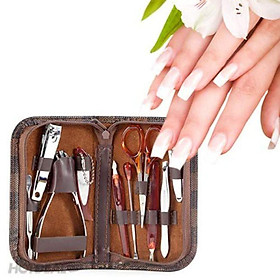 Bộ cắt móng tay 10 chi tiết kèm bao da-1