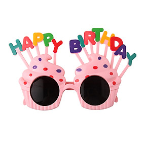 Mini Birthday Party Glasses Decoration Cute Eyeglasses Frame Portable for Kids Children A-dult Holiday Festival Favors