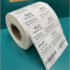 5 cuộn giấy decal in tem nhãn nhiệt 35x22 mm