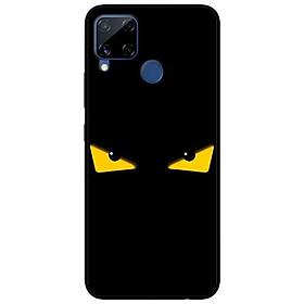 Ốp lưng dành cho Realme C15 mẫu Mắt Vàng Nền Đen