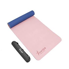 Thảm tập yoga DOPI360 cao cấp hai lớp siêu bám DP5500 Tặng kèm túi và dây