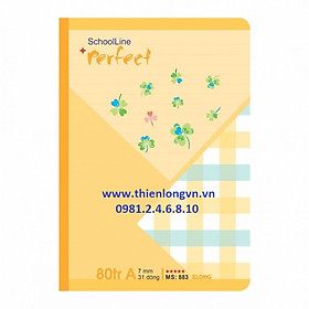 Vở kẻ ngang Perfect - 80 trang; Klong 883 bìa màu cam