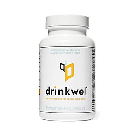 Drinkwel Hangover Cure Multivitamin Supplement (90 Capsule) | Milk Thistle, N-Acetyl Cysteine (NAC), Vitamin C, Zinc, Magnesium | Morning Recovery, Liver Cleanse, Detox, Immune Support