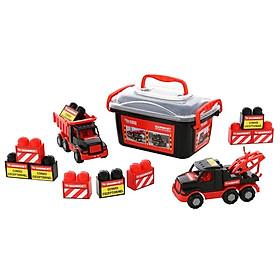 Bộ Đồ Chơi Xe Tải Và Xe Kéo Mammoet Kèm Bộ Lắp Ráp 10 Chi Tiết - Polesie Toys