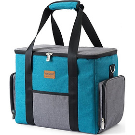 Insulated Cooler Bag Portable Leakproof Lunch Bag Box for Outdoor Camping Picnic BBQ Travel Beach