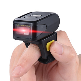 Portable Handheld Bluetooth Wireless Ring Finger 1D Barcode Scanner Reader Support for windows XP 7.0 8.0 10 system for