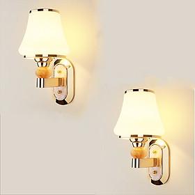 Combo 2 đèn tường đôi đính đá - đèn tường treo cầu thang - đèn treo tường