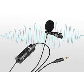 Boya M1 (Tặng kèm dây sạc điện thoại 3m ), Mic thu âm cài áo cho điện thoại, máy ảnh - Hàng chính hãng
