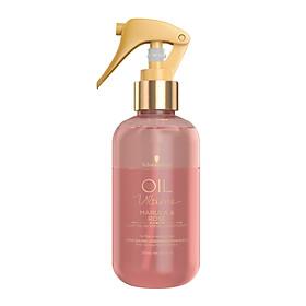 Xịt dưỡng xả khô 2 lớp cho tóc mảnh đến trung bình Schwarzkopf OIL Ultime Marula & Rose Light Oil-In-Spray Conditioner 200ml