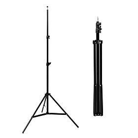 Giá đỡ 3 chân đa năng siêu cao 2 mét gắn đèn led, gắn điện thoại, máy tính bảng hỗ trợ livestream, quay video