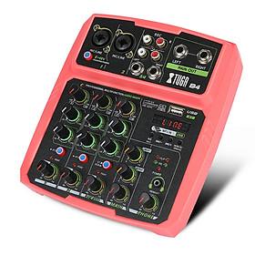 XTUGA B4/B6 kênh protable âm thanh kỹ thuật số mixer Console với card âm thanh, Bluetooth, USB, 48V Phantom Power cho DJ PC Recording
