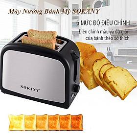 Máy nướng bánh mỳ sandwich, lò nướng bánh mì  SOKANY HJT 008s , 800W - Hàng chính hãng