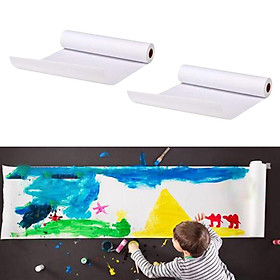 2Pcs White Sketching Painting Paper Roll Arts Crafts Paper Supplies 92cmx10m