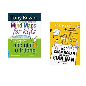 Combo 2 cuốn sách: Tony Buzan - Bí Quyết Học Giỏi Ở Trường + Học Khôn Ngoan Mà Không Gian Nan