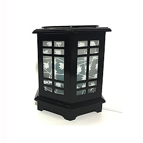 Đèn xông tinh dầu bằng điện gỗ đen hình chữ nhật M100
