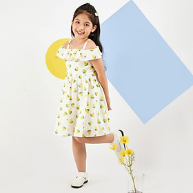 Váy đầm cho bé gái cao cấp Econice V011. Size 5, 6, 7, 8, 10 tuổi mặc mùa hè