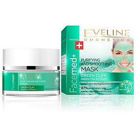 Mặt Nạ Bùn Và Trà Xanh Làm Mềm Và Thanh Lọc Da Eveline Purifying And Smoothing Mask Green Clay 50ml