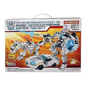 Bộ lắp ráp Robot biến hình Transformers Wheeljack 3in1 Lele Brother (8557-1)