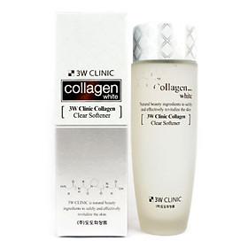 Nước hoa hồng dưỡng trắng, tái tạo da 3W Clinic Collagen tặng 2 mặt nạ Jant Blanc