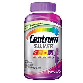 Thực phẩm bổ sung vitamin và khoáng chất: CENTRUM SILVER WOMEN 50+ 275 Viên - Nhập khẩu Mỹ