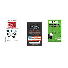 Combo 3 cuốn sách: Tư Duy Thông Minh + Làm việc trực tuyến quán xuyến tương lai  + Lên mạng cũng là một nghệ thuật