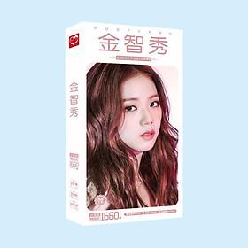 Hộp ảnh postcard Jisoo Blackpink 1660 ảnh hộp ảnh bộ ảnh có ảnh dán sticker lomo bưu thiếp