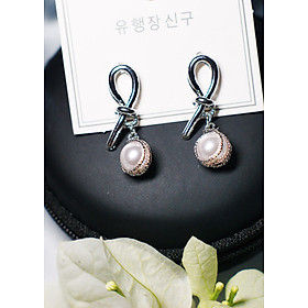 Hình đại diện sản phẩm Bông tai Hàn Quốc - Hoa tai đẹp sang chảnh - Khuyên tai đi dự tiệc, đám cưới, sinh nhật xinh xắn - Mẫu 14
