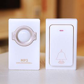Chuông báo khách dùng trong gia đình cao cấp MR868 ( Không dùng pin, chống nước - Tặng kèm 02 nút kẹp cao su giữ dây điện cố định  )