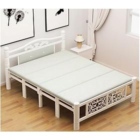 Giường xếp gọn khung sắt Cao cấp mẫu sang trọng - giường ngủ xếp gọn giao màu ngẫu nhiên